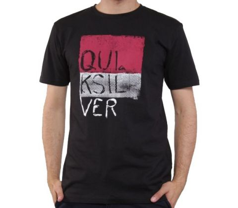 Sort Quiksilver t-shirt. (str. M)