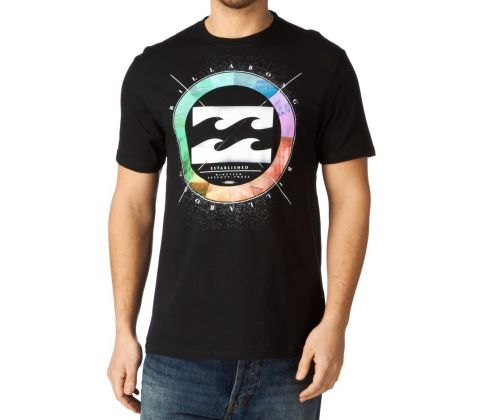 Sort Billabong t-shirt med cool wheel print