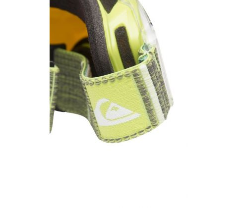 Lime/orange Quiksilver skibrillemed allround linse.