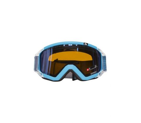 Blå/orange Quiksilver skibrille med allround linse