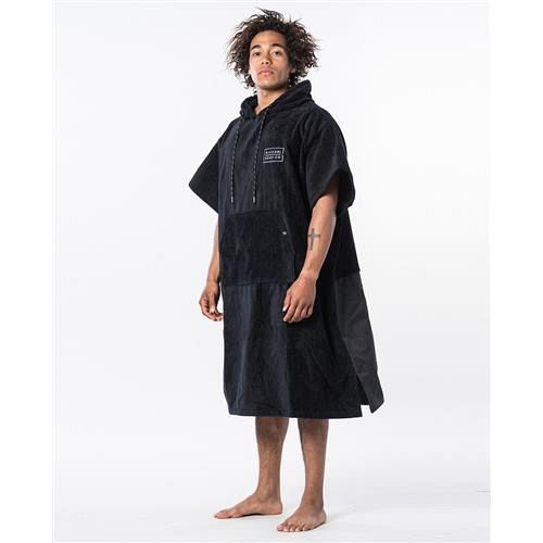 Sort RipCurl poncho med indbygget pose