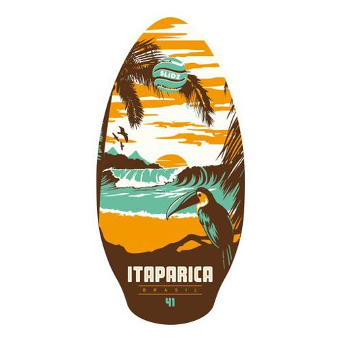 Skimboard 41'' Itaparica wood Slidz